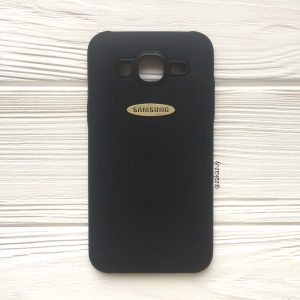 Черный силиконовый (TPU) чехол (накладка) с логотипом Samsung для Samsung J500 Galaxy J5 (2015) (Black)