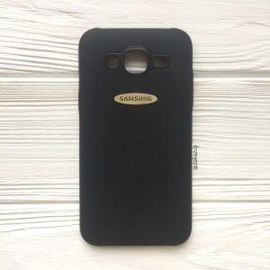 Силиконовый (TPU) чехол (накладка) с логотипом для Samsung J500 Galaxy J5 (2015) (Black)