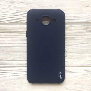 Матовый силиконовый TPU чехол на Samsung J500 Galaxy J5 (2015) (Navy Blue)