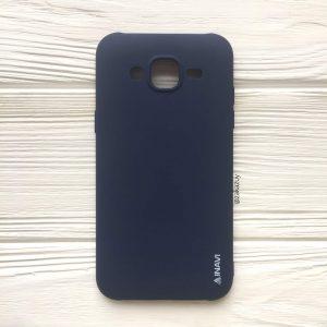 Матовый силиконовый TPU чехол на Samsung J500 Galaxy J5 (2015) (Синий)