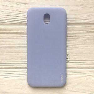 Матовый силиконовый (TPU) чехол (накладка) для Samsung J530 Galaxy J5 2017 (Светло-голубой / Light Blue)