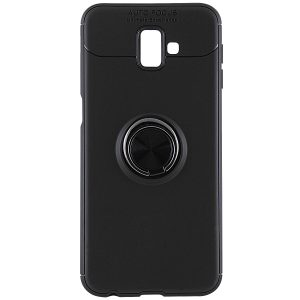 Cиликоновый чехол Deen ColorRing с креплением под магнитный держатель для Samsung Galaxy J6 Plus 2018 (J610) (Black)