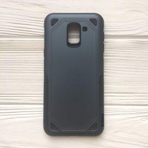 Синий (TPU+PC) противоударный (ударопрочный) чехол Deen Streamline для Samsung J600 Galaxy J6 2018 (Navy Blue)