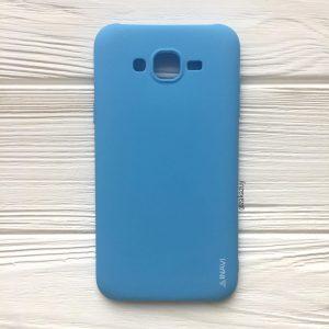 Матовый силиконовый (TPU) чехол (накладка) для Samsung J500 Galaxy J5 2015 (Голубой / Blue)