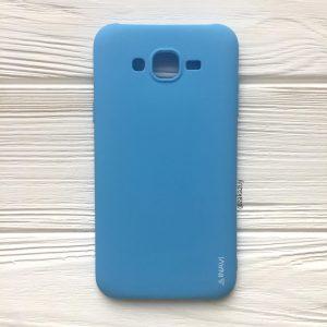 Матовый силиконовый TPU чехол на Samsung J310 / J320 Galaxy J3 (2016) (Голубой)