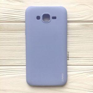 Матовый силиконовый TPU чехол на Samsung J700 / J701 Galaxy J7 (2015) / J7 Neo (Светло-голубой)