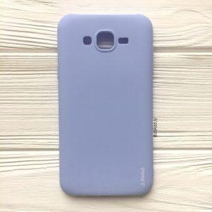 Матовый силиконовый (TPU) чехол (накладка) для Samsung J500 Galaxy J5 2015 (Светло-голубой / Light Blue)