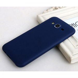 Синий матовый cиликоновый чехол (накладка)  для Samsung J700 / J701 Galaxy J7 (2015) / J7 Neo (Navy Blue)