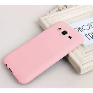 Розовый матовый cиликоновый чехол (накладка)  для Samsung J700 / J701 Galaxy J7 (2015) / J7 Neo (Pink)