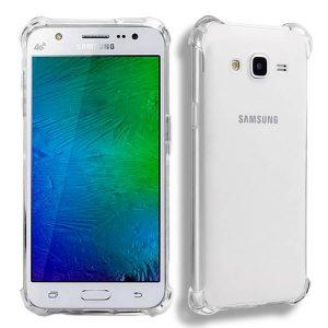 Прозрачный cиликоновый (TPU) чехол (накладка) с защитой углов для Samsung J700 / J701 Galaxy J7 (2015) / J7 Neo (Clear)