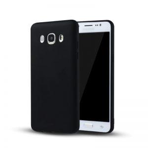 Матовый cиликоновый чехол (накладка) для Samsung J710 Galaxy J7 (2016) (Black)
