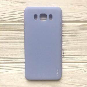 Светло-голубой матовый cиликоновый чехол (накладка) для Samsung J710 Galaxy J7 (2016) (Light Blue)