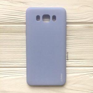 Матовый cиликоновый чехол (накладка) для Samsung J710 Galaxy J7 (2016) (Light Blue)