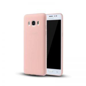 Матовый cиликоновый чехол (накладка) для Samsung J710 Galaxy J7 (2016) (Light Pink)