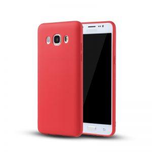 Красный матовый cиликоновый чехол (накладка) для Samsung J710 Galaxy J7 (2016) (Red)