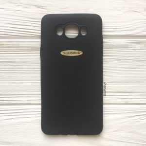 Черный силиконовый (TPU) чехол (накладка) с логотипом Samsung для Samsung J710 Galaxy J7 (2016) (Black)