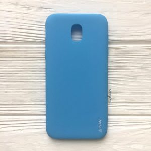 Матовый cиликоновый чехол (накладка) для Samsung J530 Galaxy J5 (2017) (Blue)
