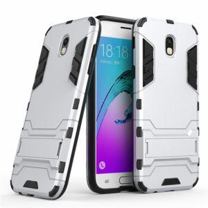 Ударопрочный чехол Transformer с подставкой для Samsung J730 Galaxy J7 2017 (Silver)