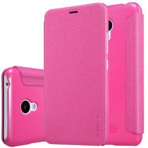 Розовый кожаный чехол-книжка Nillkin Sparkle Series для Meizu M3 / M3 mini / M3s (Pink)