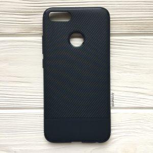 Темно-синий силиконовый (TPU) чехол (накладка) Carbon для Xiaomi Mi 5x / Mi A1 (Navy Blue)
