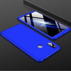 Синий матовый пластиковый чехол (бампер) GKK 360 градусов для Huawei P Smart Plus / Nova 3i (Blue)