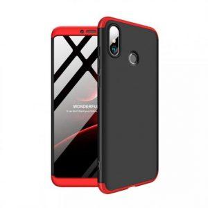 Черно-красный матовый пластиковый чехол (бампер) GKK 360 градусов для Xiaomi Mi Max 3 (Black/Red)