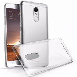 Прозрачный силиконовый (TPU) чехол (накладка) для Xiaomi Redmi Note 2 (Clear)