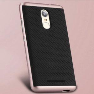 Оригинальный чехол (накладка) черно-розовый Ipaky (TPU+PC) для Xiaomi Redmi Note 3 / 3 Pro (Black / Rose)