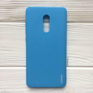 Матовый силиконовый TPU чехол на Xiaomi Redmi Note 4x / Note 4 (Snapdragon) (Голубой)
