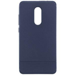 Синий силиконовый (TPU) чехол (накладка) Carbon для Xiaomi Redmi Note 4x / Note 4 (Snapdragon) (Navy Blue)