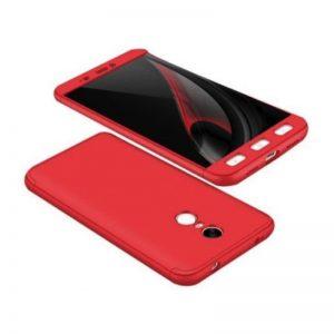Матовый пластиковый чехол GKK 360 градусов для Xiaomi Redmi Note 4x / Note 4 (Красный)(Snapdragon)