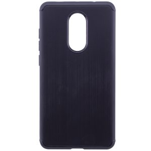 Cиликоновый (TPU) чехол Metal для Xiaomi Redmi Note 4x / Note 4 Snapdragon (Black)