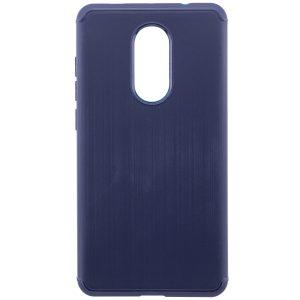 Cиликоновый (TPU) чехол Metal для Xiaomi Redmi Note 4x / Note 4 Snapdragon (Blue)