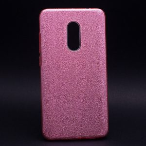 Розовый силиконовый (TPU+PC) чехол (накладка) Shine с блестками для Xiaomi Redmi Note 4x / Note 4 (Snapdragon) (Pink)