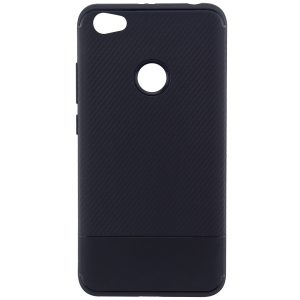 Cиликоновый (TPU) чехол Carbon  для Xiaomi Redmi Note 5A Prime / Y1 (Черный)