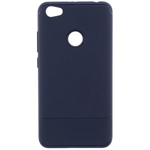 Cиликоновый (TPU) чехол Carbon для Xiaomi Redmi Note 5A / Redmi Note 5A Prime (Синий)