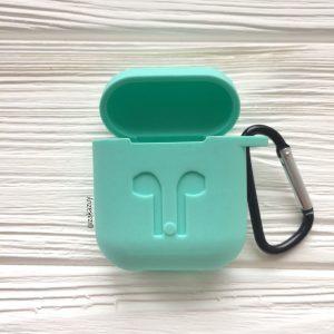 Мятный силиконовый чехол для Apple Airpods (Mint)
