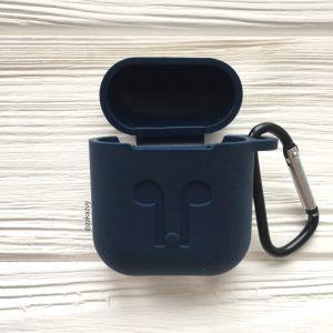 Темно-синий силиконовый чехол для Apple Airpods (Navy Blue)
