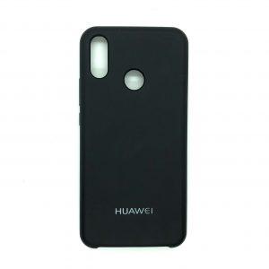 Оригинальный чехол Silicone Case с микрофиброй для Huawei P Smart Plus / Nova 3i (Black)