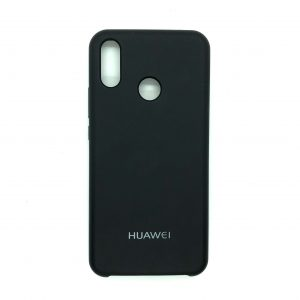 Оригинальный чехол Silicone Case с микрофиброй для Huawei P Smart Plus / Nova 3i (Black)
