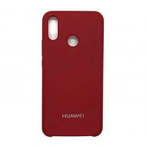 Оригинальный чехол Silicone Case с микрофиброй для Huawei P Smart Plus / Nova 3i (Dark Red)