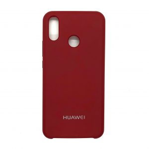 Оригинальный чехол Silicone Case с микрофиброй для Huawei P Smart Plus / Nova 3i (Dark Red)