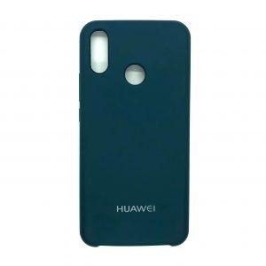 Оригинальный чехол Silicone Case с микрофиброй для Huawei P Smart Plus / Nova 3i (Dark Green)