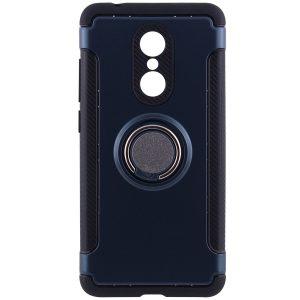 Синий противоударный (ударопрочный) чехол (бампер) Deen Verus с кольцом и креплением под магнитный держатель для Xiaomi Redmi 5 (Navy Blue)