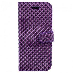 Фиолетовый чехол-книжка лаковый рельефный с функцией подставки для Samsung G950 Galaxy S8 (Violet)