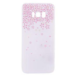 Матовый силиконовый (TPU) чехол (накладка) Soft Touch с мелкими цветами для Samsung G955 Galaxy S8 Plus
