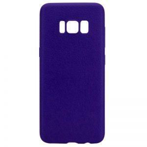 Силиконовый (TPU) чехол (накладка) с имитацией кожи для Samsung G955 Galaxy S8 Plus (Blue)