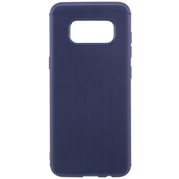Синий силиконовый (TPU) чехол (накладка) Metal для Samsung G950 Galaxy S8 (Blue)