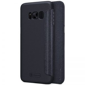 Кожаный чехол-книжка Nillkin Sparkle Series для Samsung G950 Galaxy S8 (Black)