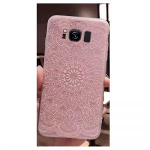 Матовый силиконовый (TPU) чехол (накладка) Soft Touch с розовым узором для Samsung G955 Galaxy S8 Plus